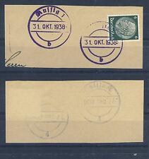 Aussig Briefstück mit BF-Stempel 31. Okt. 1938 (436055)