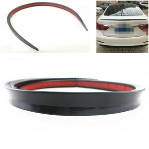 Universal Black Soft Car Rear Roof Trunk Spoiler Rear Wing Lip Trim Sticker 1.2M