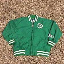 Vintage Starter Nba Basketball Boston Celtics Toddler Varsity Bomber Jacket Sz 4