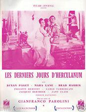 ▬►1962 Synopsis LES DERNIERS JOURS D'HERCULANUM Susan Paget_Maria Lane_B.Harris