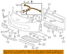 Chevrolet GM OEM 14-16 Corvette Front Bumper Grille-Center Support 23213880