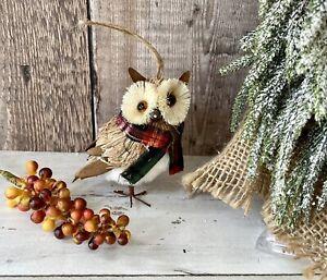 Woodland Owl Bristle Brush Christmas Tree Bauble Decoration Hanging Xmas Ornamen