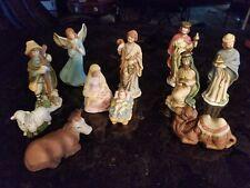 Herald 11-Piece Hand Painted Nativity Set
