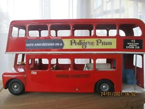 VINTAGE TRIANG LARGE PRESSED STEEL ROUTEMASTER BUS LOT 2