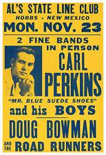 Carl Perkins 1959 concert poster print