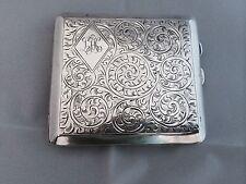 Art Deco solid silver cigarette case 1926 Joseph Glocester