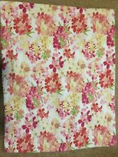 Laura Ashley Standard Size Pillow Sham Pink Yellow Floral Quilted Pillow Sham
