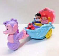 Fisher Price Little People Disney Princess Ariel's Coach Complete Set 2 Figures