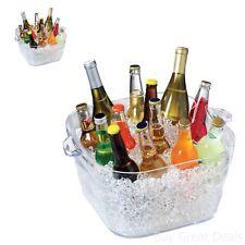 Large Crystal Ice Bucket Cooler Party Bottle Tub Beverage Wine Beer Champagne