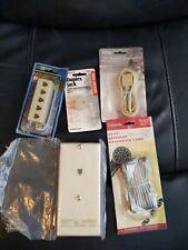 Lot Of Telephone Accessories, wall.mount, jacks and cords.