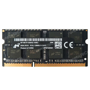 Micron 32GB 16GB 8GB PC3L-12800S DDR3-1600 204pin 1.35V SODIMM Laptop Memory RAM