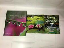 3x Water Gardening Books Water in the Garden Water Gardens