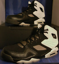Nike Air Jordan Flightclub 91 Black White Pewter Fltclb SZ 11.5 ( 555475-010 )