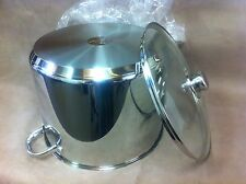 Royal Doulton 30CM Stainless Steel Stock Pot With Glass Lid - INDUCTION COOKTOP