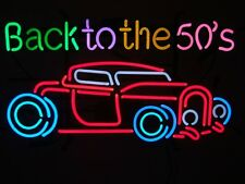 50s American Style Retro Neon Diner Sign Hanging Standing - BACK TO THE 50'S CAR