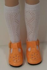 """Orange T-Straps Doll Shoes Fits Tonner 14"""" Betsy McCall Debs"""