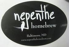 NEPENTHE HOMEBREW beer & wine supply STICKER, Label w/ BIRD, Baltimore, MARYLAND