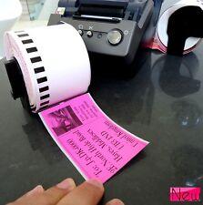 1 ROLL 62mm DK22205 500 QL550 QL560 ql570 1050N DK-2205 Labels 30M pink Sticker