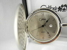 Pocket Watch W/Date New Reduced Colibri Silvertone Silver Face Thai Movt.