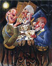 The Art of Otto Dix: The Skat Players - Die Skatspieler: Fine Art Print