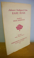 Aubusson Needlepoint & Other Rare Rugs Auction Parke-Bernet Catalog, 1964 Illus