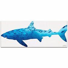 SHARK SEASCAPE Blue Ocean Aquatic Life Silhouette Contemporary Metal Animal Art