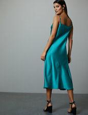 M&S AUTOGRAPH Rich Satin Slip Dress 18 Green