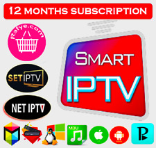 IP TV 12 Months Premium Smart Subscription With live TV VOD Movies HD