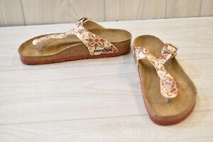 Birkenstock Gizeh Sandal - Regular - W8/M6/EUR 39 - Boho Flowers Earth Red