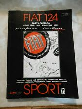 Fiat 124 Parts Catalog, Coupe 1968 - 1975, Spider 1968 - 1985