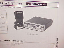 1975 KRIS CB RADIO SERVICE SHOP MANUAL MODEL VALIANT