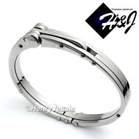 MEN's Stainless Steel Silver Simple Plain Bangle/Handcuff Bracelet*B13