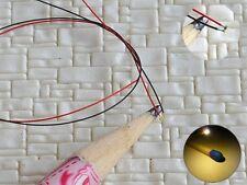 S1152 - 10 Stück SMD LED 0402 warmweiß mit Kabel Microlitze micro LEDs