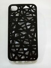 BLACK NEST DESIGN BACK case cover for iPhone 4,4G,4S  WITH SCREEN PROTECTOR