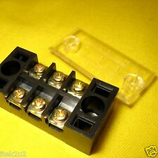 Terminal Blocks x4 3way 2 Screw Covered Barrier Strip 15A Solar LED 12V Lighting