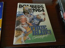1984 Winnipeg Blue Bombers Fact book/Guide Nice condition CFL