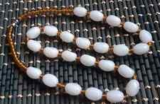 gem necklace amulet 20�006681 9x12mm Xinjiang white jade