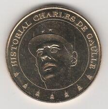A 2009 TOKEN MEDAILLE SOUVENIR MDP -- 75 007 N°28 HISTORIAL CHARLES DE GAULLE