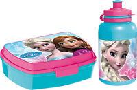 Frozen Brotdose und Trinkflasche Disney Kinder Lunchbox Kindergarten Eiskönigin
