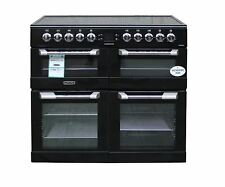 Leisure Electric Range Cooker 100cm CS100C510K Ceramic Hob 3 Ovens Black #2185