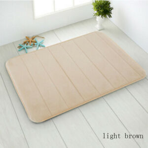 1X Home Memory Foam Bath Bathroom Floor Shower Mat Rug Non-slip Absorbent Soft