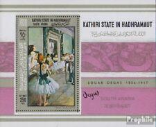 Aden - Kathiri Toestand Blok 19A (compleet Editie) postfris MNH 1967 Schilderije