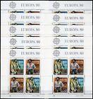 Portogallo - Lotto di 10 foglietti Europa, 1980 - Nuovi (** MNH)