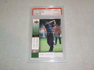 2002 Upper Deck Tiger Woods Stat Leader #SL11 Graded PSA 10 Gem Mint QR