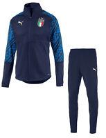 ITALIA FIGC TUTA PRESENTAZIONE BLU 2019-20 PUMA ITALIA NAVY TRACKSUIT
