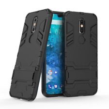 For Nokia 7.1 - Slim Tough Shock Proof Builder Phone Case Cover Stand