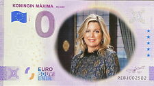 BILLET 0  EURO KONIGIN MAXIMA PAYS BAS COULEUR  2021  NUMERO DIVERS