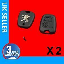 2X Remote Flip Key Fob Case 2 Button FITS PEUGEOT 106 205 206 207 306 307 308