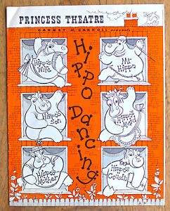 OLD PROGRAMME Princess Theatre Melbourne Hippo Dancing c.1957