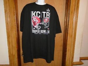 Fanatics Super Bowl LV Tampa Bay Bucs KC Chiefs Helmets T Shirt 3XLT NWT
